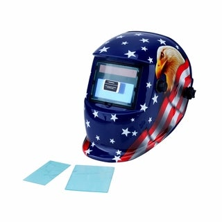 Steel Core Auto-Darkening Welding Helmet with Eagle Design