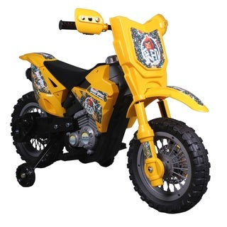 "Angry Birds ""Red"" 6V Battery Operated Kids Ride On Dirt Bike - Yellow"