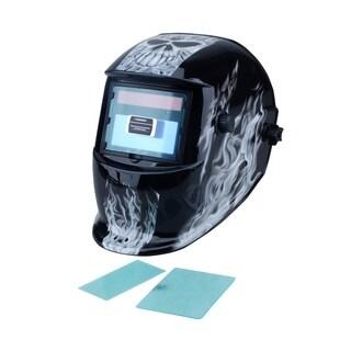 Steel Core Auto-Darkening Welding Helmet with Skull Design