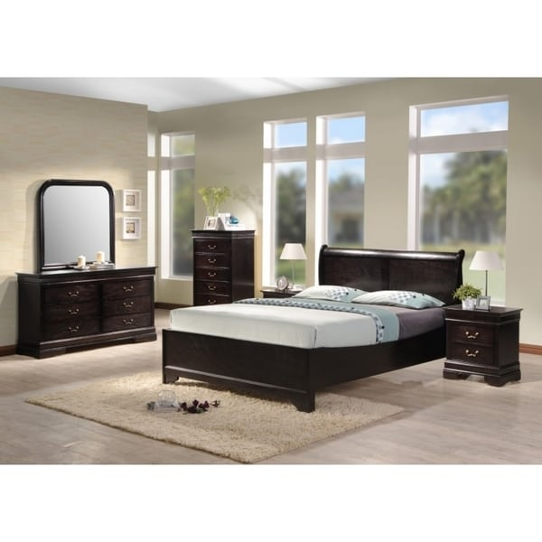 Best Price Bedroom Furniture: Shop Best Quality Furniture Traditional Cappuccino 5-Piece