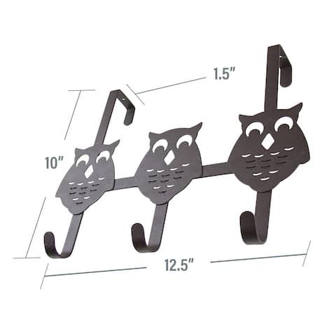 InStyleDesign Over the Door Owl 3 Hooks