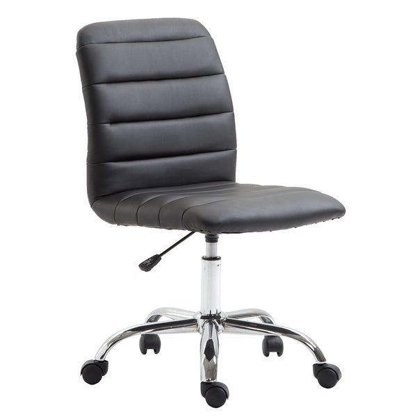EdgeMod Polox Height-adjustable Faux Leather Swivel Task Chair. Opens flyout.