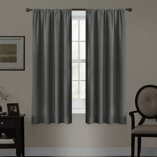 Maytex Smart Curtains Julius 100 Percent Blackout 63 Inch Window Curtain Panel in Blue (As Is Item)