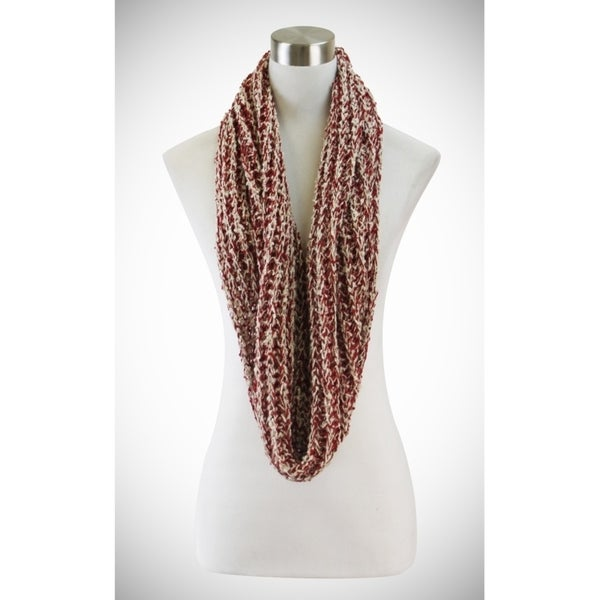 Shop Le Nom Wavy Ribbed Crochet Knitted Infinity Scarf - On Sale ...