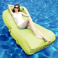 OVE Decors Aqua Sunlounger Inflatable Pool Float in Lime