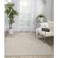 Nourison Kiawiah Stone Fabric/ Wool Indoor Area Rug - 9' x 12'