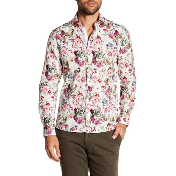 Multicolor Floral Slim-Fit Dress Shirt