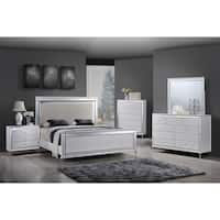 Best Quality Furniture Metallic White  6-Piece Glam Bedroom Set