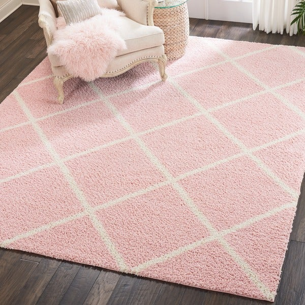 Shop Nourison Brisbane Blush Shag Area Rug (8'2 X 10')