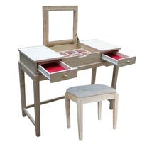 International Concepts Vanity Table with Vanity Bench - N/A