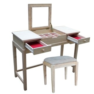 International Concepts Vanity Table with Vanity Bench