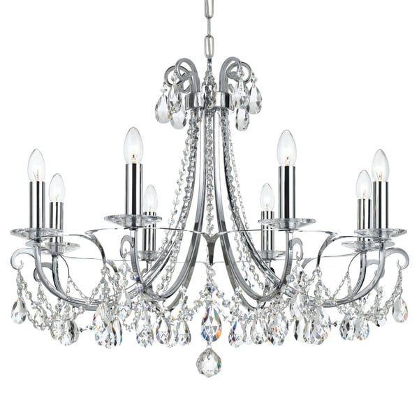 Crystorama Othello Collection 8-light Polished Chrome/Swarovski Strass Crystal Chandelier