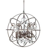 Crystorama Solaris Collection 6-light English Bronze/Swarovski Strass Chandelier
