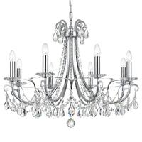 Crystorama Othello Collection 8-light Polished Chrome/Swarovski Spectra Crystal Chandelier