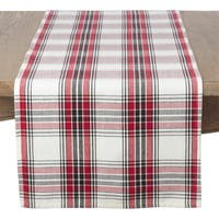 Classic Plaid Pattern Cotton Table Runner