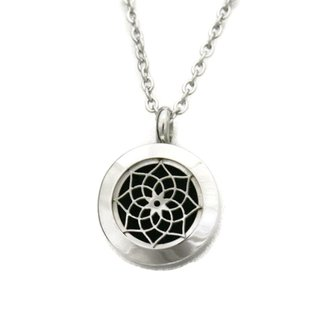 Sacred Lotus 316L Stainless Steel Essential Oil Diffuser Necklace