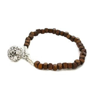 Squared Wooden Bead Essential Oil Diffuser Bracelet