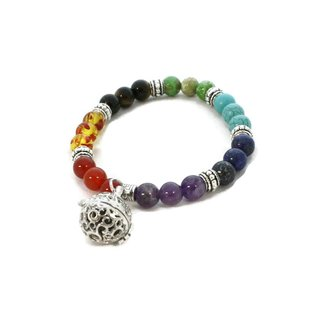 Link to Full Circle 7 Chakra Essential Oil Diffuser Bracelet Multi-colored Similar Items in Aromatherapy & Massage