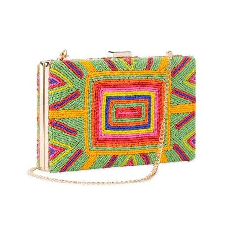 Handmade Dipti Beaded Clutch Bag (India)