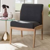 Mid-Century Grey Fabric Slipper Lounge Chair by Baxton Studio