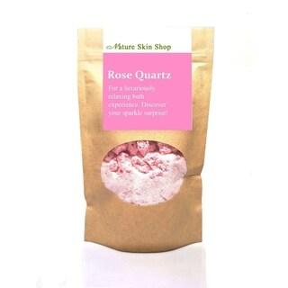 Rose Quartz Foaming Bath Soak. Hidden Surprise Bracelet Inside