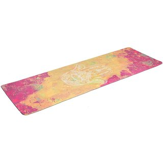 Zennery Watercolor Combo Commuter Yoga Mat Hamsa Hand Gold