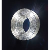Cote D'Azure Ring White Crystal Wall Lamp