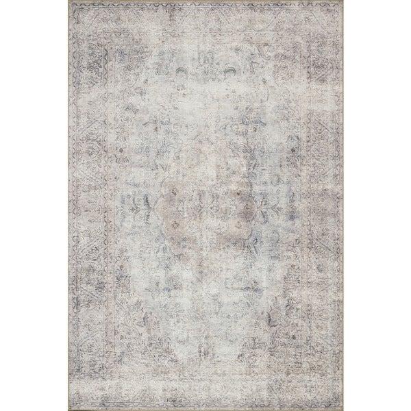 Lina Distressed Grey/ Slate Rug (2'3 x 3'9)