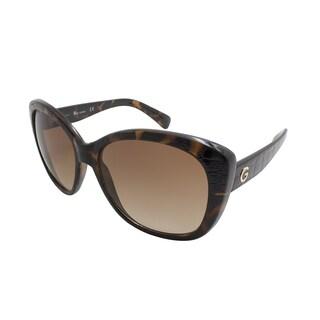 Guess/GG1123-52F/Women's/Dark Havana Frame/Brown Gradient Lens/Sunglasses