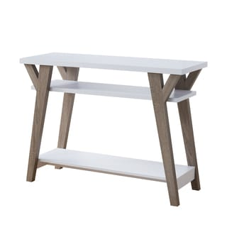 Shenera Contemporary White Open Console Table by FOA