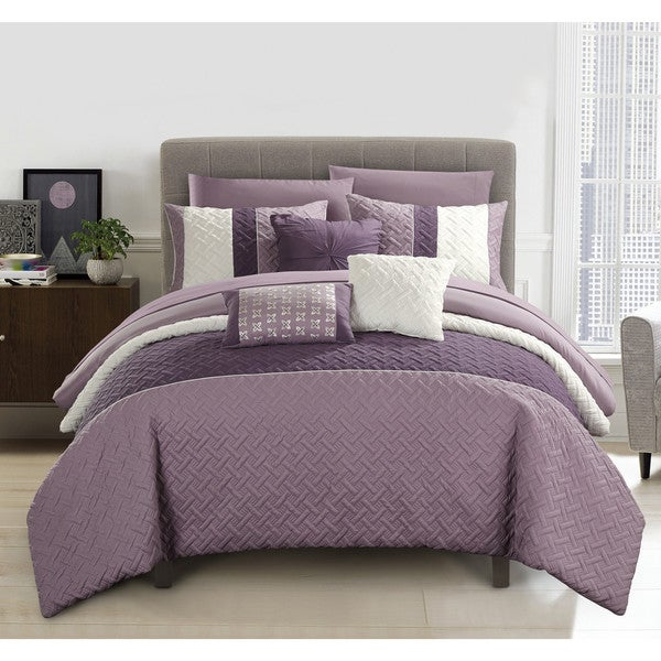 Chic Home Arza 10 Piece Color Block Quilted Comforter Set by Chic Home