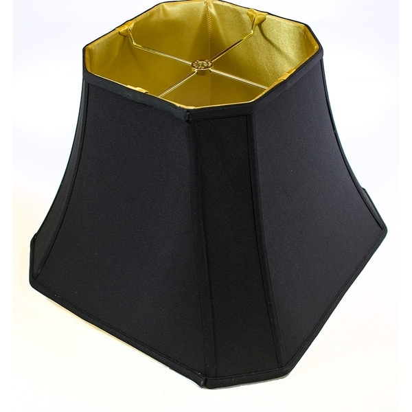 9x16x12 Square Cut Corner Shade Black Fabric/Gold Liner
