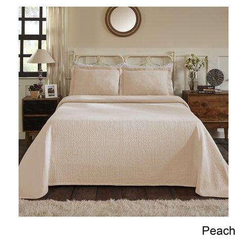 Superior Jacquard Matelasse Fleur-de-lis Bedspread Set