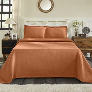Superior All-Season 100% Premium Cotton Oversized Basket Weave Pattern Bedspread|https://ak1.ostkcdn.com/images/products/18528645/P24637170.jpg?impolicy=medium