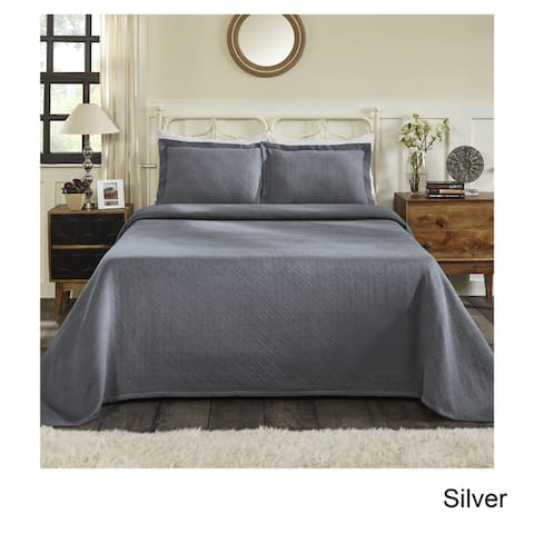 Superior Jacquard Matelasse Basket Cotton Bedspread Set