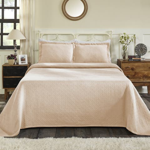Superior Jacquard Matelasse Basket Cotton Bedspread Set