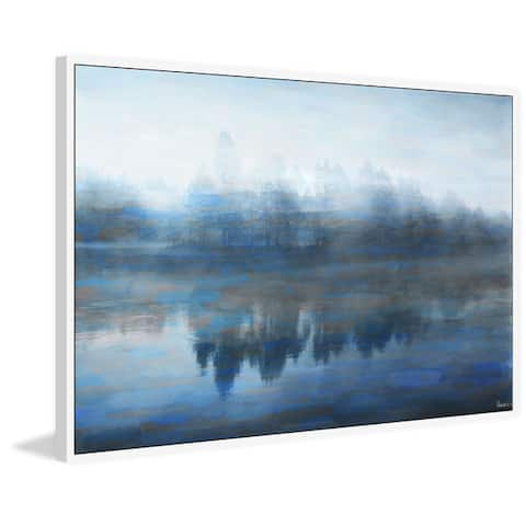 Handmade Lake Marmont Floater Framed Print on Canvas