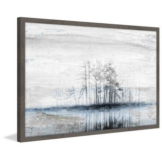 Handmade Tree Island Framed Print
