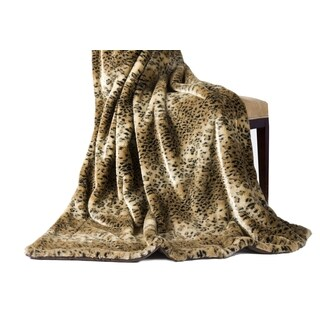 14 Karat Home Leopard Faux Fur Throw