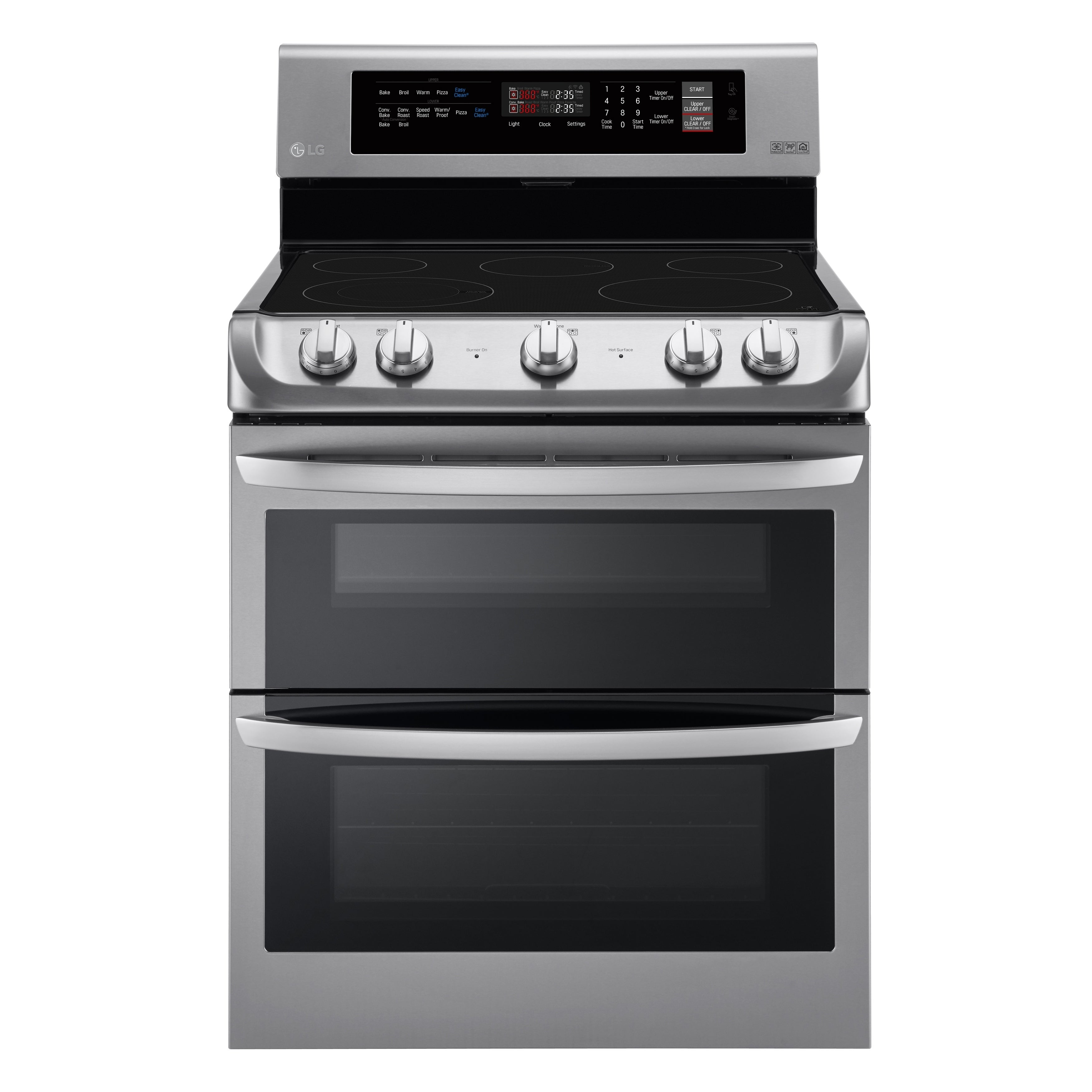 LG LDE4411ST 7.3 cu. ft. Electric Double Oven Range with ...