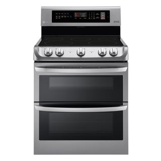 LG LDE4411ST 7.3 cu. ft. Electric Double Oven Range with ProBake Convection® and EasyClean® in Stainless Steel