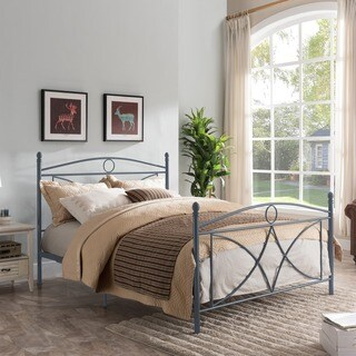 Delphine Classical Metal Queen-Sized Bed Frame by Christopher Knight Home (2 options available)