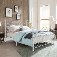 Caragh Classical Metal Queen-Sized Bed Frame by Christopher Knight Home