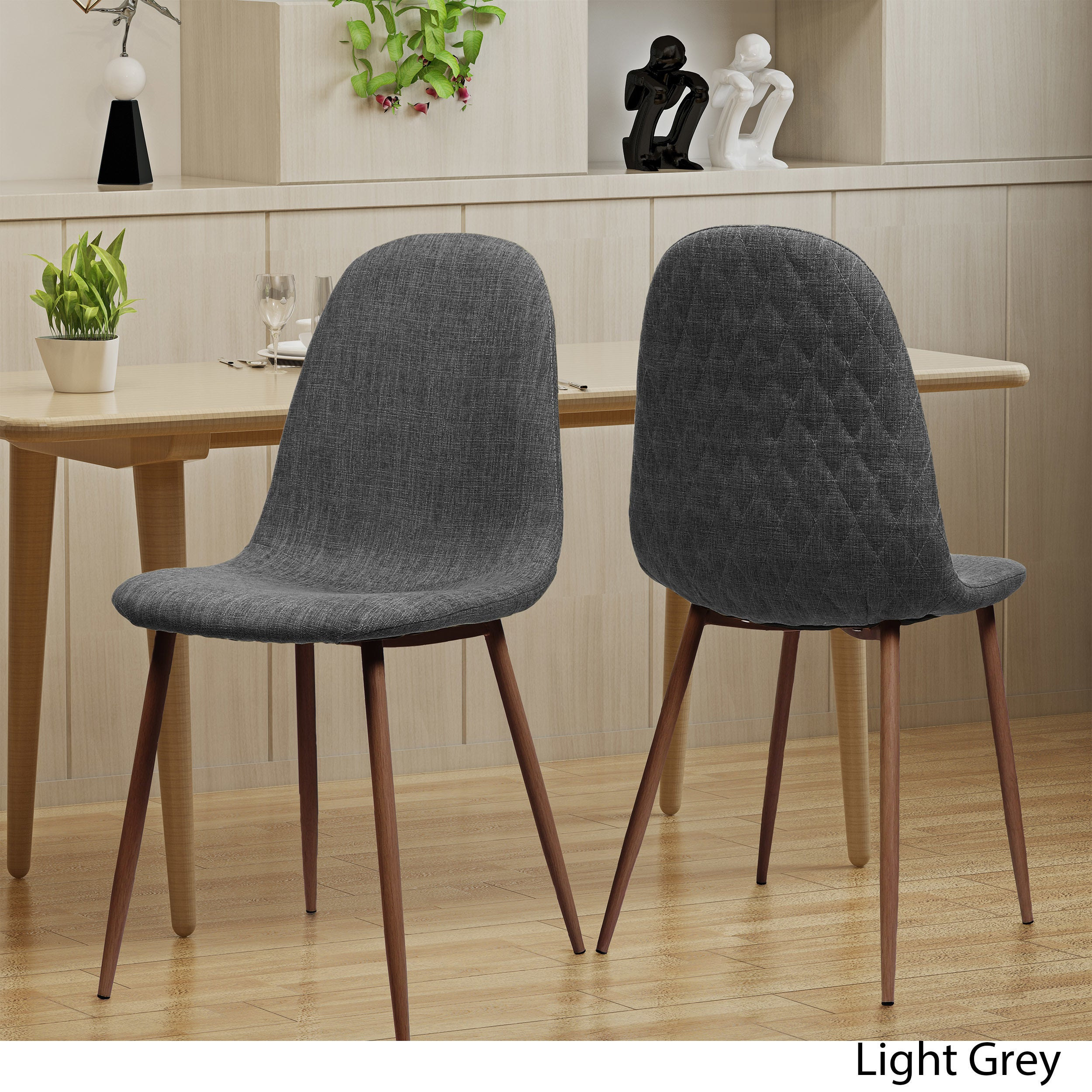 Caden Mid Century Fabric Dining Chair Set Of