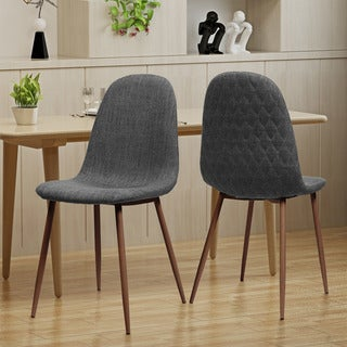 Link to Caden Mid-century Fabric Dining Chair (Set of 2) by Christopher Knight Home Similar Items in Dining Room & Bar Furniture