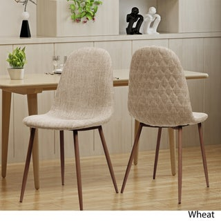 Caden Mid Century Fabric Dining Chair (Set of 2) by Christopher Knight Home (Option: Wheat)