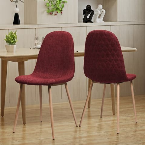 Caden Mid Century Fabric Dining Chair Set Of 2 By Christopher Knight Home