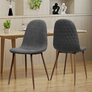 Caden Mid Century Fabric Dining Chair (Set of 2) by Christopher Knight Home