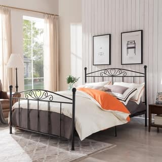 Pallas Classical Metal Queen-Sized Bed Frame by Christopher Knight Home|https://ak1.ostkcdn.com/images/products/18528881/P24637701.jpg?impolicy=medium