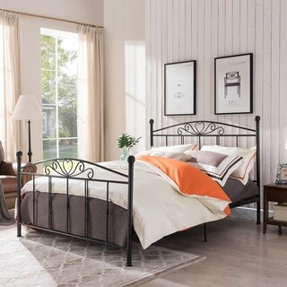 Pallas Classical Metal Queen-Sized Bed Frame by Christopher Knight Home (2 options available)